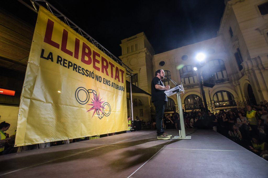 David Fernàndez, former deputy of the Parliament of Catalonia in Sabadell on September 28, 2019. Source: detingudes23s.cat.